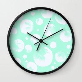 Snowballs-Light turquoise backgroud Wall Clock