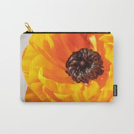 Orange Poppy, Stigma and Anther Carry-All Pouch