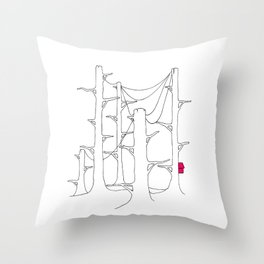 Telegraph pole forest. Throw Pillow