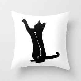 aries cat Throw Pillow