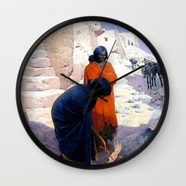 "Western Art ""Pottery Kiln"" Wall Clock"
