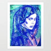 princess leia Art Prints featuring Princess Leia by grapeloverarts