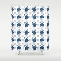 final fantasy Shower Curtains featuring Neochu - Final Fantasy  by Skekfaer