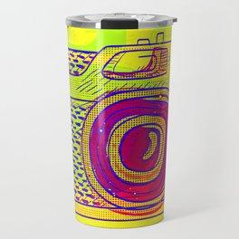 Pop Art Analog Photo Camera Travel Mug