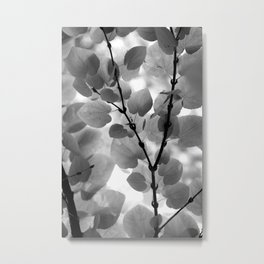 Under a Tree in a Summer Rainstorm Black and White  #decor #society6 #buyart Metal Print