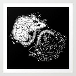 MYSTICAL RATS Art Print