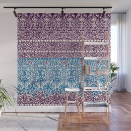 big paisley with floral lines on burgundy Wall Mural