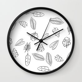 Tropical Plants Wall Clock