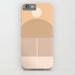Abstraction_NEW_SUN_BEIGE_HORIZON_POP_ART_M001S iPhone Case