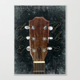 Acoustic Guitar Art Canvas Print