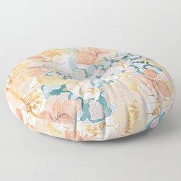 Coral Spring Garden Floor Pillow