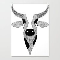 cow Canvas Prints featuring Cow by Art & Be