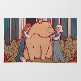 Snow White and Rose Red Rug