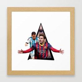 Youtriangle ∆ Leo Messi Framed Art Print