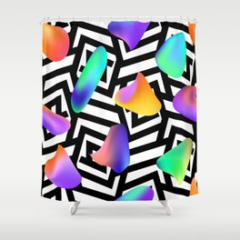Liquid colors Shower Curtain