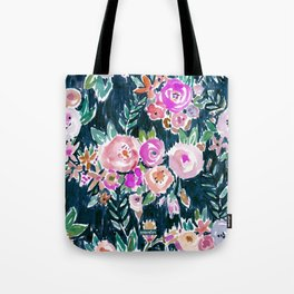 Midnight PROFUSION FLORAL Tote Bag