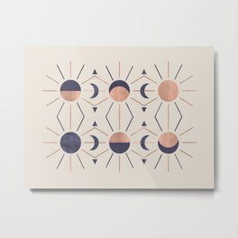Moon and Light Rosè Version Metal Print