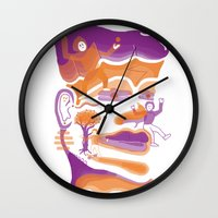 the dude Wall Clocks featuring DUDE by msunde