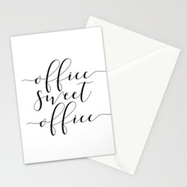 Office sweet office PRINTABLE art,office wall decor,home office decor,calligraphy Stationery Cards