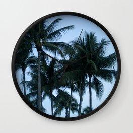 Palm Trees at Dusk Wall Clock