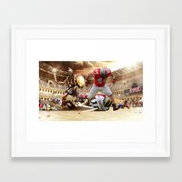ohio state Framed Art Prints featuring Ohio State by Rosaria B