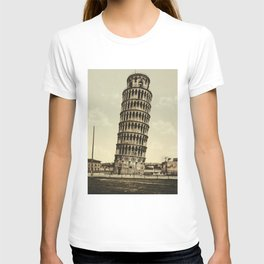 Vintage Leaning Tower of Pisa Photograph (1900) T-shirt