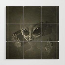 Alien Wood Wall Art