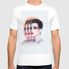 Katy #4 White SMALL Mens Fitted Tee