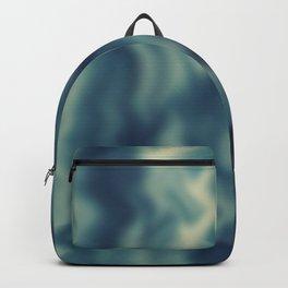 Blue blured background Backpack