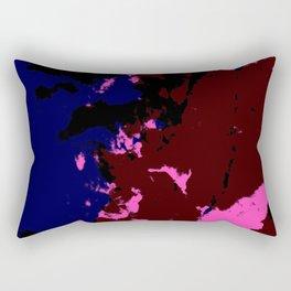 Ishiteru - Abstract Colorful Dark Art Pattern Rectangular Pillow