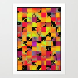 No Alphabet Symbol In Tiles Art Print