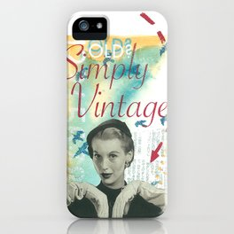 Old? Simply Vintage. iPhone Case