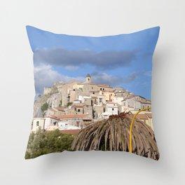 Scalea In Calabria, Italy Throw Pillow