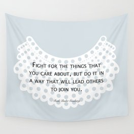 Fight, Lead - RBG (blue) *also in grey Wall Tapestry