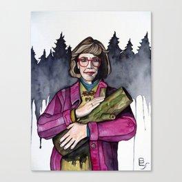 Twin Peaks Log Lady Canvas Print