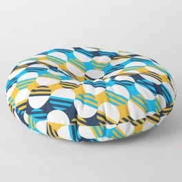 People's Flag of Milwaukee Mod Pattern Floor Pillow