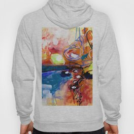Abstract Soul Dance 1a by Kathy Morton Stanion Hoody
