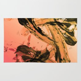 Calm and Fiery Abstraction Rug