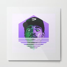 Chance The Rapper Minimal Hipster Metal Print