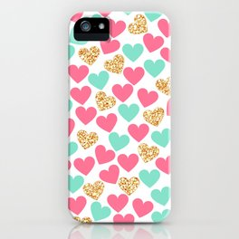 HEART--GOLD iPhone Case