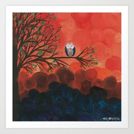Owl Art by MiMi Stirn - Owl Singles #337 Art Print