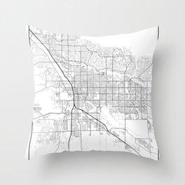 Minimal City Maps - Map Of Tucson, Arizona, United States Throw Pillow