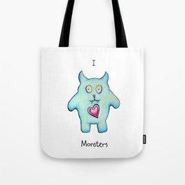 Monster love Tote Bag