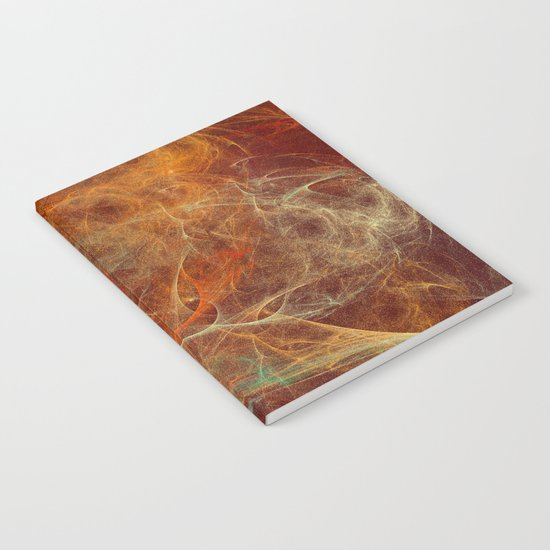 Abstract texture in autumn tones Notebook