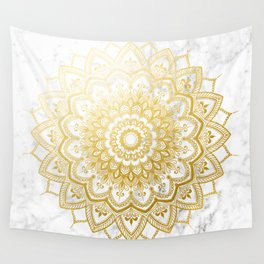 Pleasure Gold Wall Tapestry