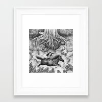 sisters Framed Art Prints featuring Sisters by Ulrika Kestere