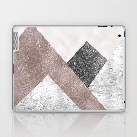 Rose grunge - mountains Laptop & iPad Skin