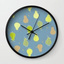Pear or Bird Wall Clock