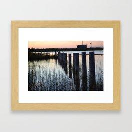 Sunset by the Bay Framed Art Print
