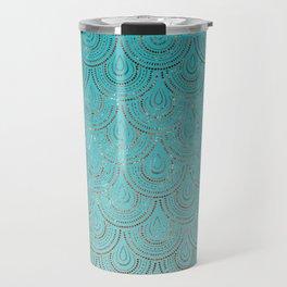 Polka Dots Mermaid Scales Travel Mug